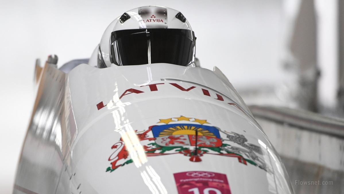 Melbārža ekipāžai bobsleja četrinieku sacensībās piektā vieta