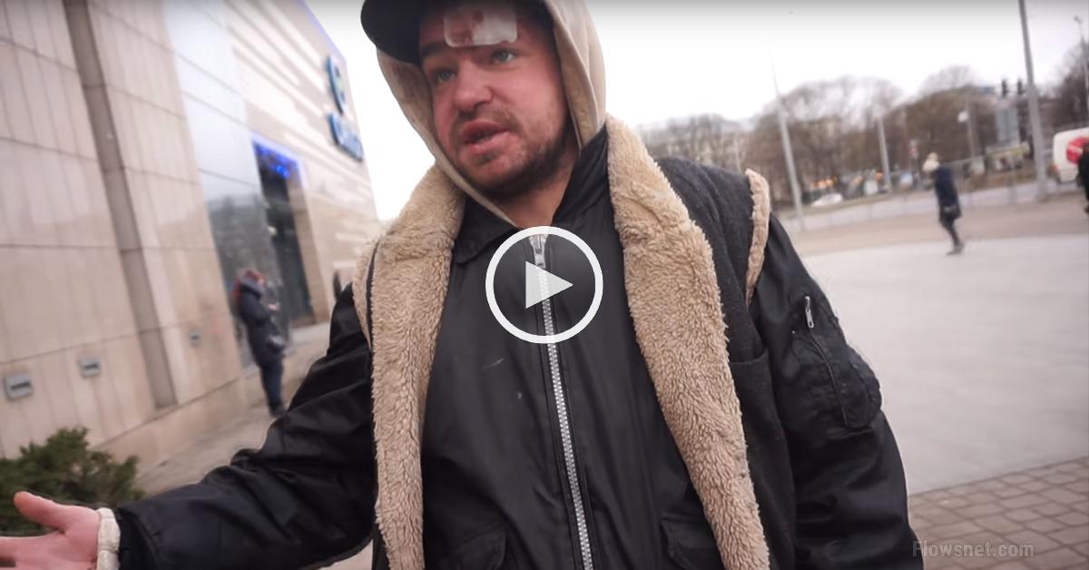 Strauji augošajam Latvijas jūtūberim Crazy Latvian BLOG neizdevās bezpajumtnieku Artjomu atgriezt normālā dzīvē