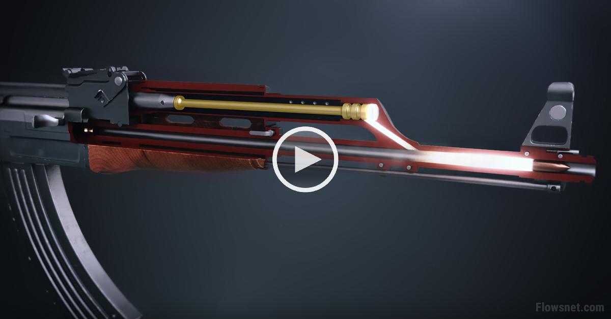VIDEO: Noskaties, kā tad īsti darbojas populārā Kalašņikova triecienšautene AK-47